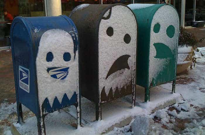 Mailbox snow